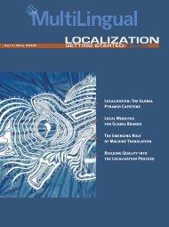 LOCALIZATION Guide - MultiLingual Computing, Inc.
