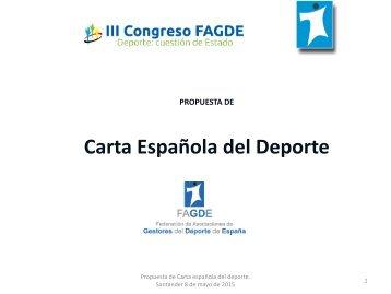 Carta Española del Deporte