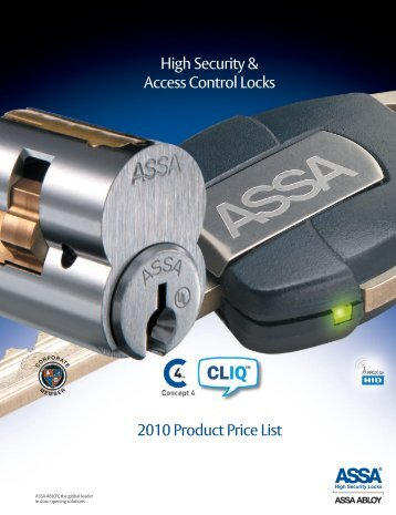 2010 Product Price List High Security & Access ... - Mfsales.com