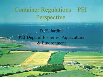 Container Regulations – PEI Perspective - Canadian Centre for ...
