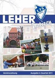 LTS Heft 4/2011 - Leher Turnerschaft von 1898 e.V.