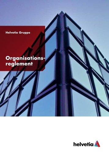 Organisations- reglement - Helvetia