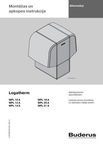 Montāžas un apkopes instrukcija Logatherm - Buderus