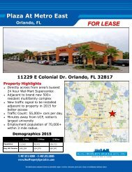 Plaza At Metro East FOR LEASE