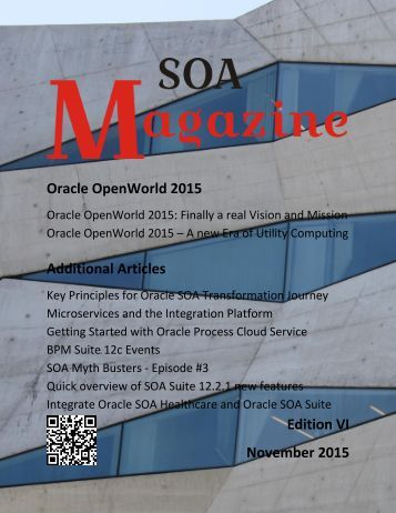 Oracle OpenWorld 2015 Additional Articles Edition VI November 2015