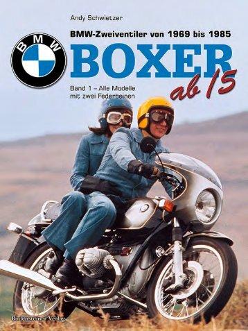 BMW Boxer Band 1 - Alle Modelle mit zwei Federbeinen von 1969 bis 1984