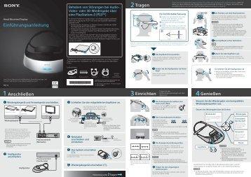 Sony HMZ-T2 - HMZ-T2 Guida di configurazione rapid Tedesco