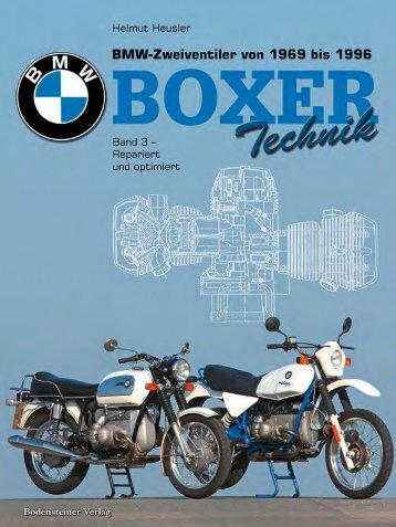 BMW Boxer Band 3 alle Modelle von 1969 bis 1996, Boxer Technik – repariert und optimiert