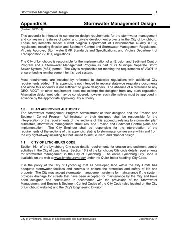 Appendix B Stormwater Management Design