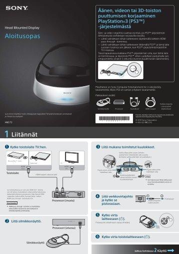 Sony HMZ-T2 - HMZ-T2 Guida di configurazione rapid Finlandese
