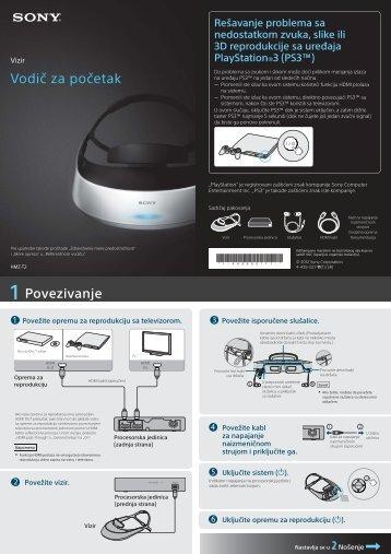 Sony HMZ-T2 - HMZ-T2 Guida di configurazione rapid Serbo