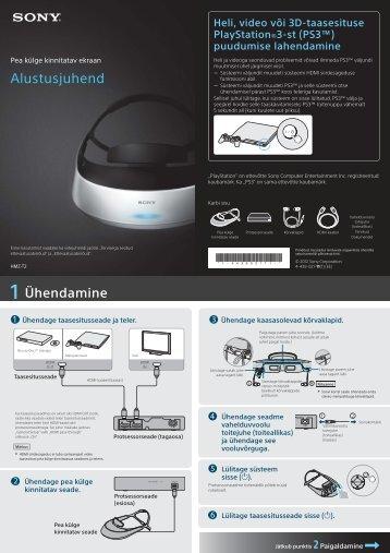 Sony HMZ-T2 - HMZ-T2 Guida di configurazione rapid Estone