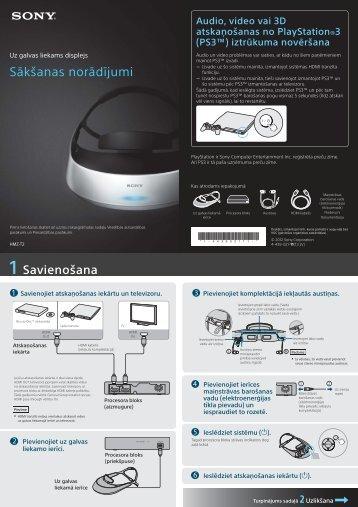 Sony HMZ-T2 - HMZ-T2 Guida di configurazione rapid Lettone