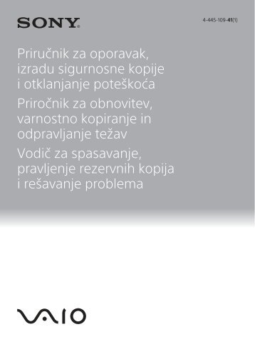 Sony SVE1713E1R - SVE1713E1R Guida alla risoluzione dei problemi Sloveno
