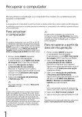 Sony SVE1712C1E - SVE1712C1E Guida alla risoluzione dei problemi Portoghese - Page 6