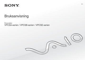 Sony VPCSE1L1E - VPCSE1L1E Istruzioni per l'uso Svedese