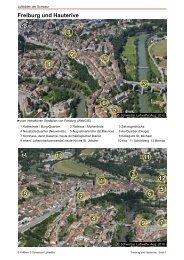 Freiburg und Hauterive  N - Luftbilder der Schweiz