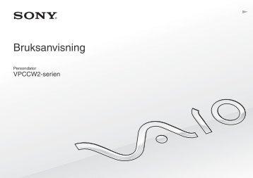 Sony VPCCW2C5E - VPCCW2C5E Istruzioni per l'uso Svedese