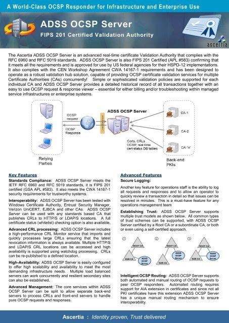 ADSS OCSP Server