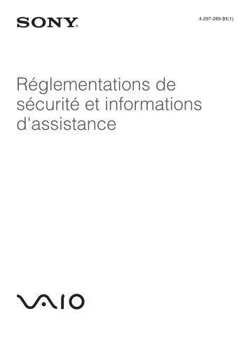 Sony VPCEH2F1E - VPCEH2F1E Documenti garanzia Francese
