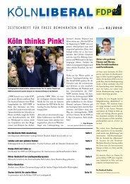 Starke Kölner braucht das Land! - FDP-Köln