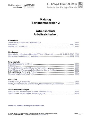 Download Katalog 2 - J. Mettler GmbH & Co. KG