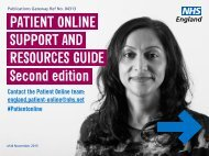 PATIENT ONLINE SUPPORT AND RESOURCES GUIDE