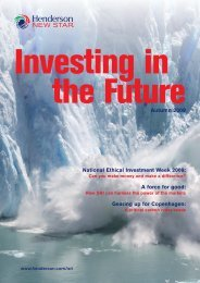 Autumn 2009 National Ethical Investment Week 2009: A force for ...