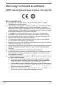 Sony VPCSA2Z9E - VPCSA2Z9E Documenti garanzia Ungherese - Page 6