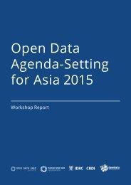 Open Data Agenda-Setting for Asia 2015