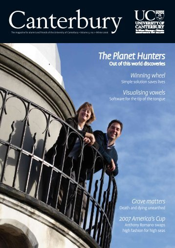 The Planet Hunters - Communications - University of Canterbury