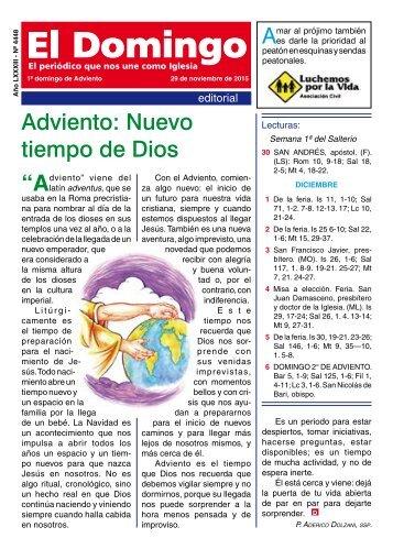 "LXXXIII Adviento Nuevo tiempo de Dios ""Alatín A"
