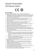 Sony VPCSE1X1R - VPCSE1X1R Documenti garanzia Turco - Page 5