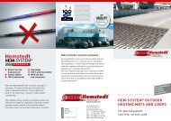 Flyer HEM-SYSTEM® Outdoor heating mats  and loops - Hemstedt