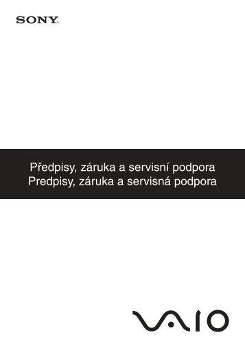 Sony VPCF13Z1R - VPCF13Z1R Documenti garanzia Slovacco