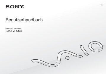 Sony VPCSB1B9E - VPCSB1B9E Istruzioni per l'uso Tedesco