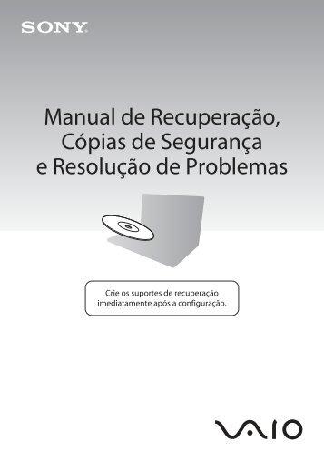 Sony VPCSB1B9E - VPCSB1B9E Guida alla risoluzione dei problemi Portoghese