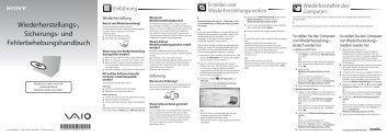 Sony VPCEJ1J1E - VPCEJ1J1E Guida alla risoluzione dei problemi Tedesco