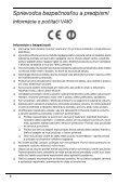 Sony VPCEJ1J1E - VPCEJ1J1E Documenti garanzia Slovacco - Page 6