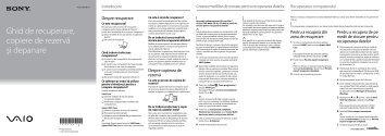 Sony VPCJ23M1E - VPCJ23M1E Guida alla risoluzione dei problemi Rumeno