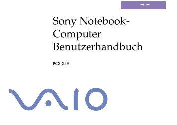 Sony PCG-X29 - PCG-X29 Istruzioni per l'uso Tedesco