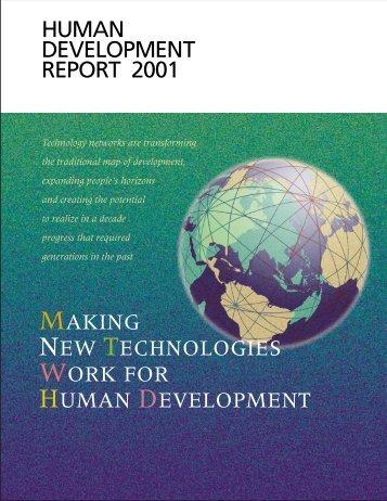 Making new technologies work for human development