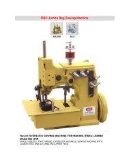 FIBC Jumbo Bag Sewing Machine - Atco Maart