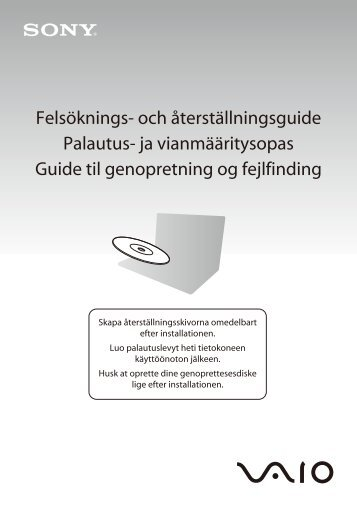 Sony VPCS11A7E - VPCS11A7E Guida alla risoluzione dei problemi Finlandese