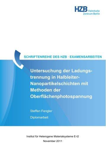 Untersuchung der Ladungs- trennung in Halbleiter - Helmholtz ...