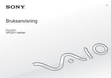 Sony VPCS11A7E - VPCS11A7E Istruzioni per l'uso Svedese