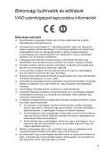 Sony SVT1311B4E - SVT1311B4E Documenti garanzia Ungherese - Page 5