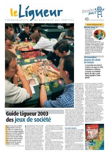 Dossier Jeux/2 Guide Ligueur 2003 des jeux de société