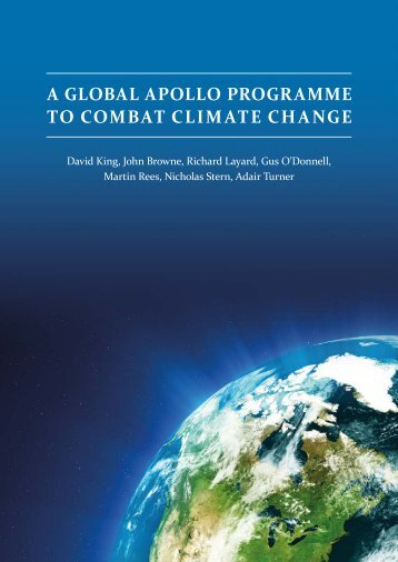 A GLOBAL APOLLO PROGRAMME TO COMBAT CLIMATE CHANGE