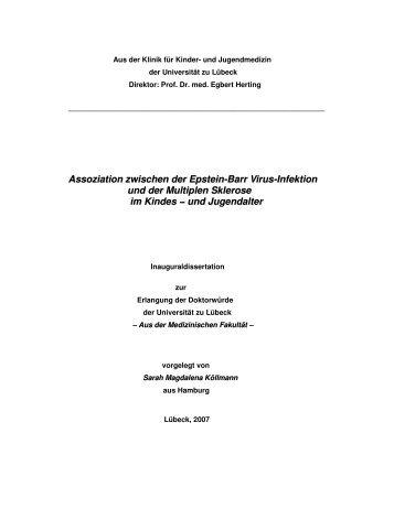 Assoziation zwischen der Epstein-Barr Virus-Infektion und